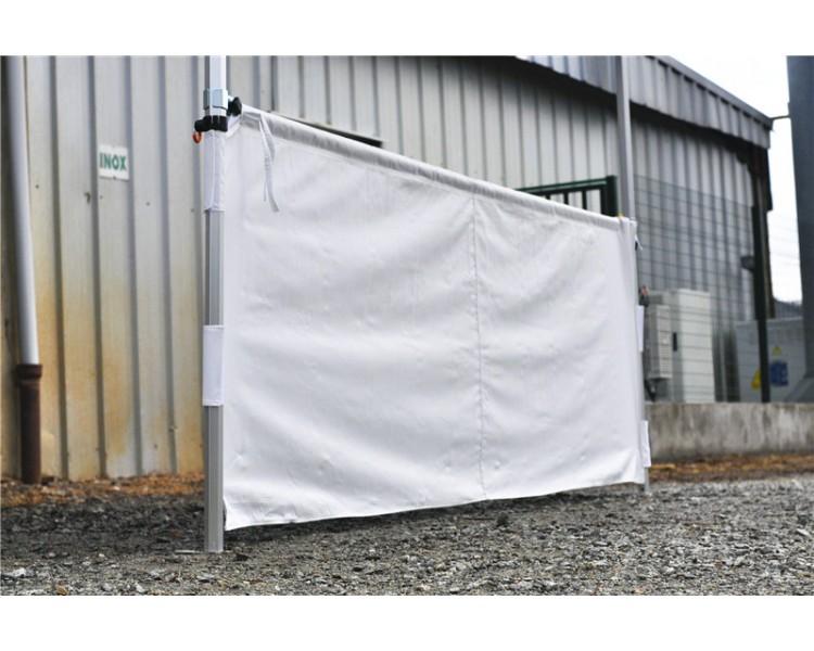 Demi rideau 3m pour tente pliante PRO 40mm Blanc, barre aluminium inclus