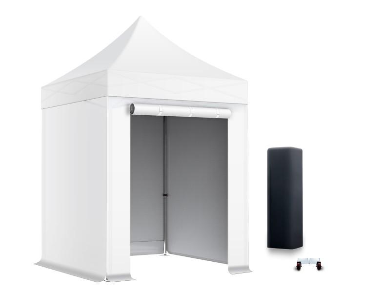 Pack Tente pliante semi-Pro Alu 45mm toit 300g/m² avec 3 bâches pleines + 1 porte