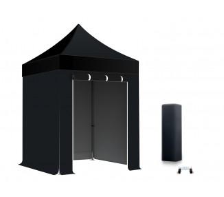 Pack Tente pliante semi-Pro Alu 40mm toit 300g/m² avec 3 bâches pleines + 1 porte
