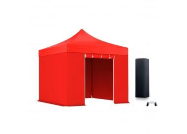 Pack Tente pliante Pro Alu 55mm toit 300g/m² avec 3 bâches pleines + 1 porte