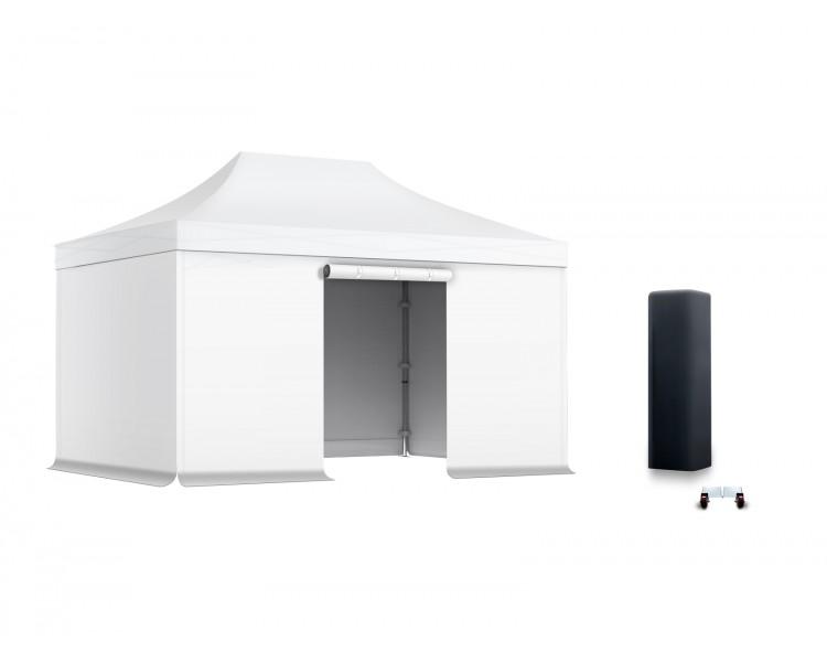 Pack Tente pliante Pro Alu 50mm toit 300g/m² avec 3 bâches pleines + 1 porte