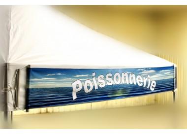 Bandeau amovible imprimé, banderole publicitaire 520g/m² pour toit PVC
