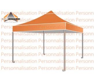 Tente avec Toit 100% imprimé toit 520g/m² 4 faces + 4 bandeaux