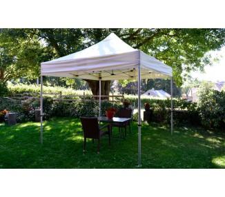 Tente Pliante Jardin à Cheminée 3x3M En Aluminium 45mm Qualité Semi-Pro
