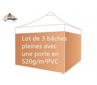 copy of Lot de 4 bâches Murs 300gr/m² (3 pleines + 1 porte)