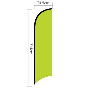 copy of Oriflamme publicitaire PLUME personnalisée Taille S 1,9m