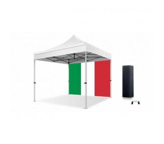 Bâche drapeau Italie 300g/m² polyester pvc pour tous les modèles